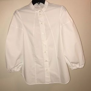 COS white poet like sleeve shirt